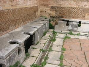 Roman latrine in Ostia, Italy